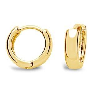 SterlingForever 14K Gold MicroHuggie Hoop Earrings